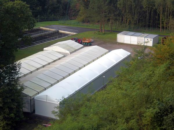 Neue Halle Lachszentrum Hasper Talsperre